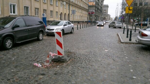 Dziura na Chłodnej Marcin Gula, tvnwarszawa.pl