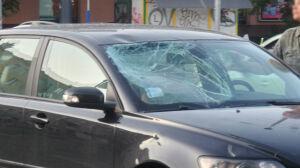 Wypadek na Woli, rowerzysta w szpitalu