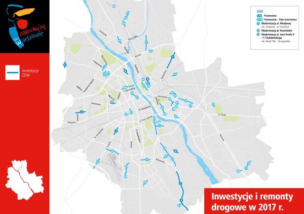 Te ulice będą frezowane w 2017 UM Warszawa