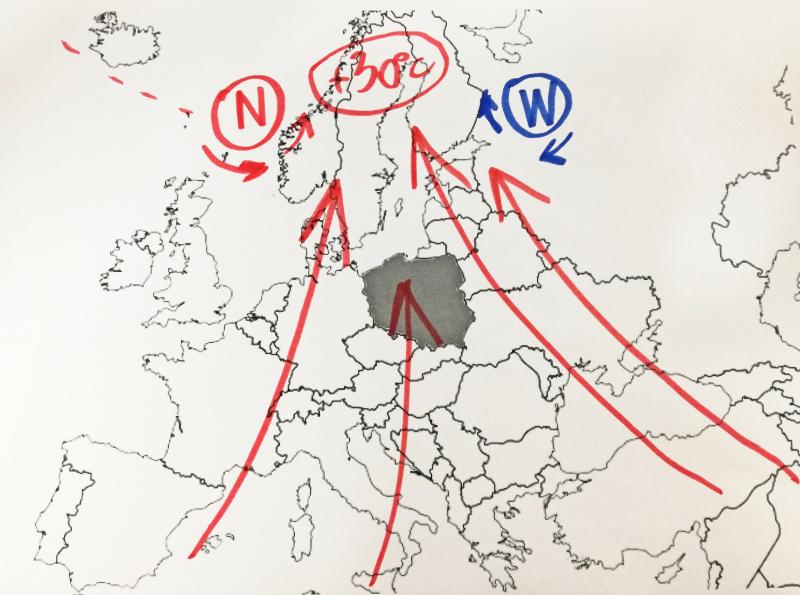 Dwa układy ciśnienia rządzą pogodą w Europie