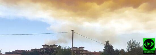 Pożar w pobliżu tureckiego kurortu. Relacja Reportera 24