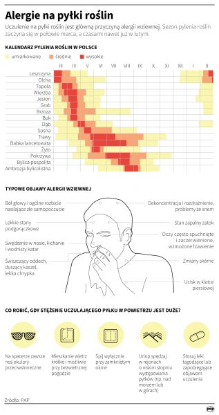 Alergie na pyłki roślin (PAP/Małgorzata Latos, Maria Samczuk)