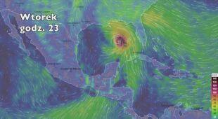 Prędkość porywów wiatru burzy tropikalnej Michael (ventusky. com | wideo bez dźwięku)